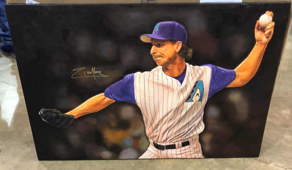 Randy Johnson 24x36 Autographed Inch Oil Painting