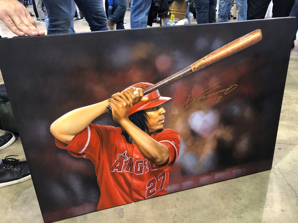 Vlad Guerrero 24x36 Autographed Inch Oil Painting