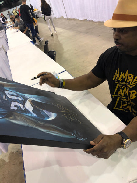 Brian Dawkins 24x36 Autographed Inch Oil Painting