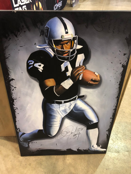 Bo Jackson 24x36 Autographed Inch Oil Painting