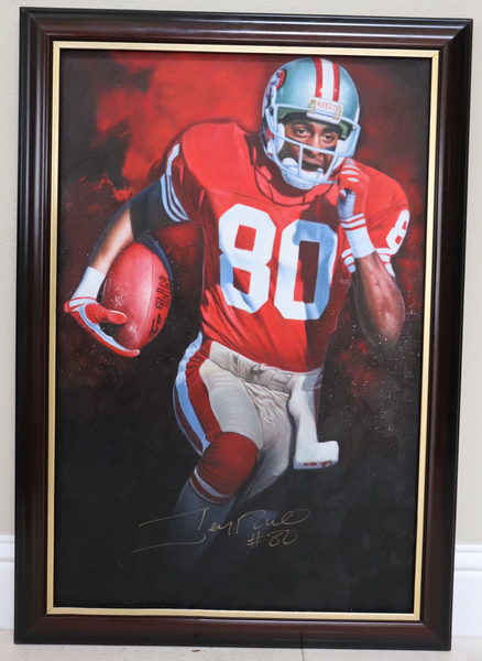 Jerry Rice Autographed 20x30 $10 Raffle Ticket - ONLY 175 SPOTS