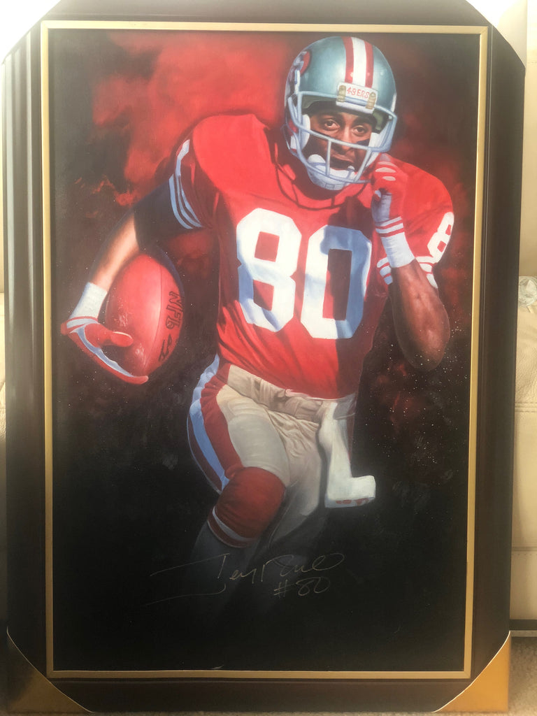 Jerry Rice 20x30 Autographed Inch Oil Painting
