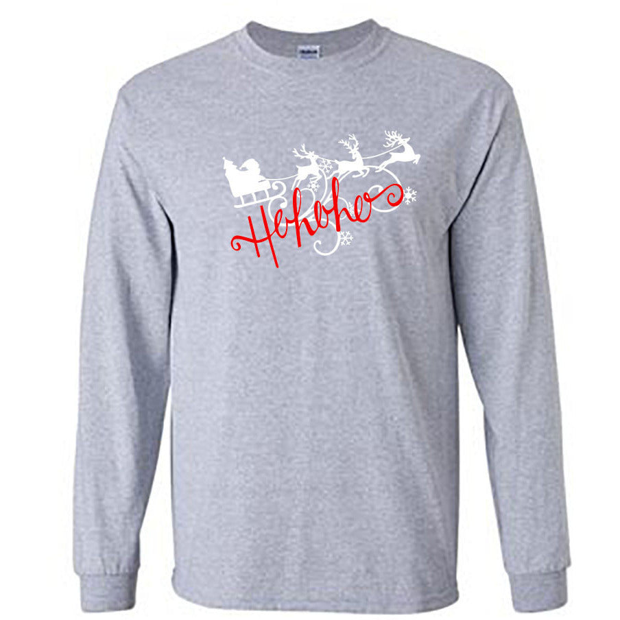 Ho Ho Ho Christmas Long Sleeve Shirt - Adult sport gray