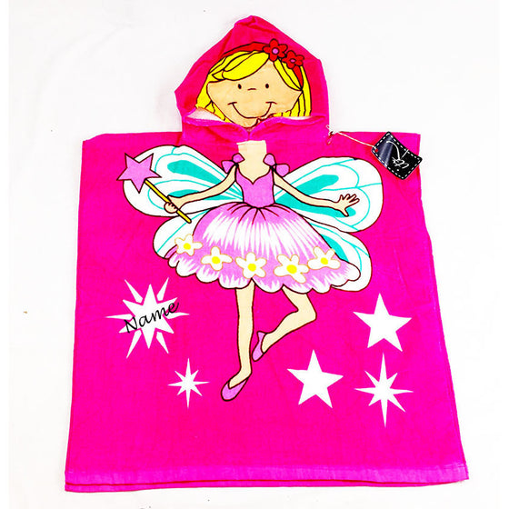Fairy Children's Personalized Poncho Beach Towel front