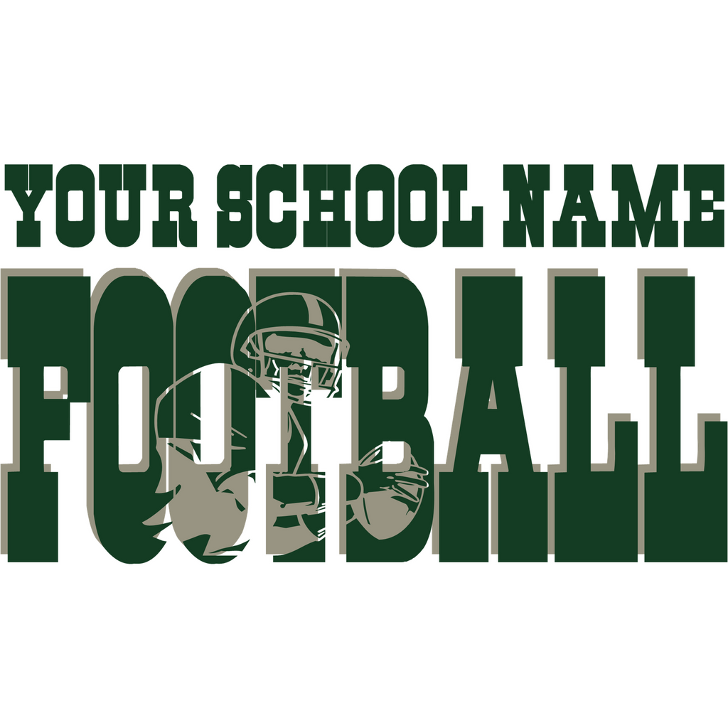High School Knockout Football Shirt design