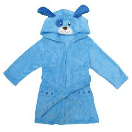 Puppy Blue Personalized Plush Children's Robe