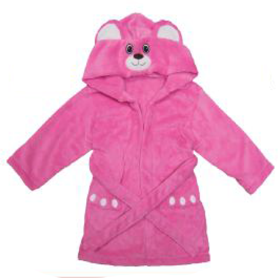Berry Bear Personalized Plush Robe