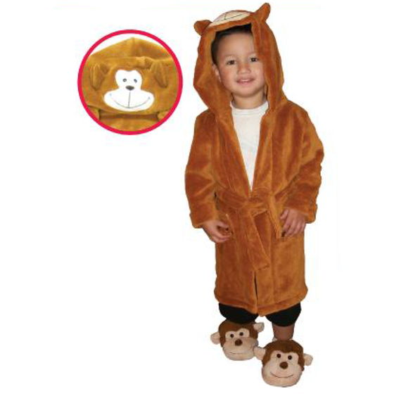 Monkey Max Children's Personalized Plush Robe