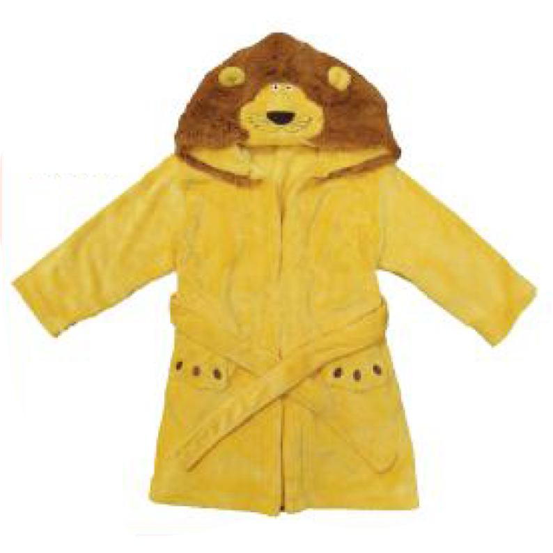 Golden Lion Children's Personalized Plush Robe