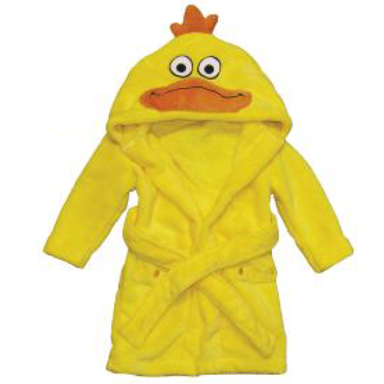 Downy Duck Children's Plush Personalized Robe