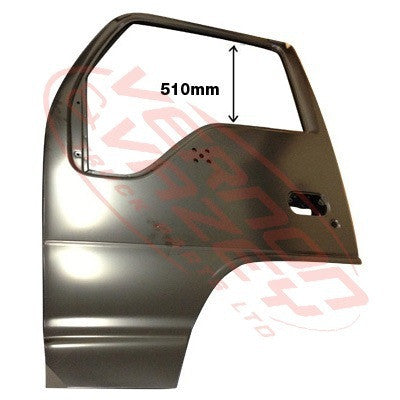 3097110-01 - FRONT DOOR SHELL - L/H - HI ROOF - AUST (HAS MIRROR HOLES) - ISUZU NKR/NPR 2004-