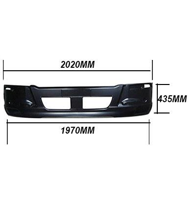3787190-02 - FRONT BUMPER - W/O FOG LAMP - NARROW/DEEP - MITSUBISHI FIGHTER 2006-  H/L IN CORNER PANEL