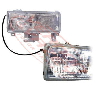 3798094-5 - HEADLAMP - L/H - HONEYCOMBE GRILLE - MITSUBISHI CANTER FE5/FE6 1994-