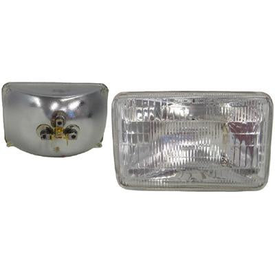 SB-6001 - 24V 3 PIN 100/75W 100X165MM - RECTANGULAR - OUTER - 3 PIN SMALL RECTANGULAR SEALED BEAM