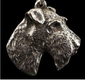 Airedale Terrier Silver Plated Pendant