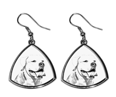 American Bulldog Silver Plated Earrings
