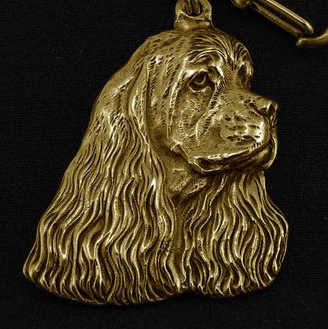 Cocker Spaniel American Hard Gold Plated Key Chain