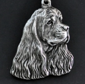 Cocker Spaniel American Silver Plated Key Chain