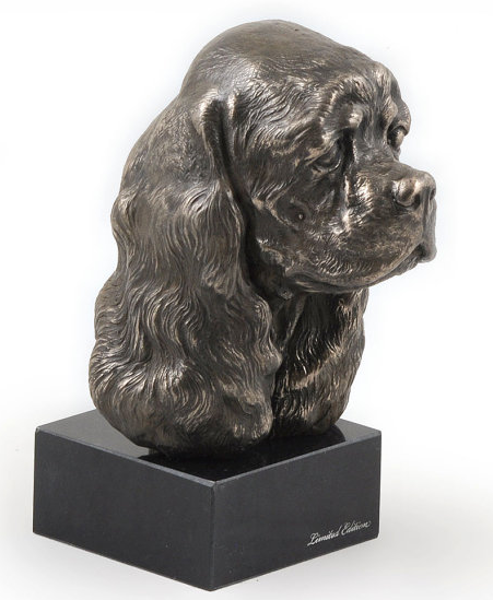 Cocker Spaniel Staue Marble Base