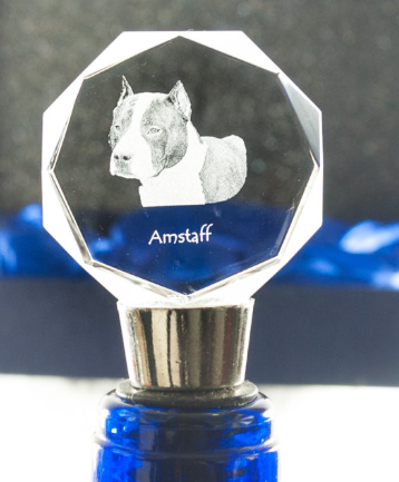 American Staffordshire Bull Terrier Staffy Crystal Wine Stopper