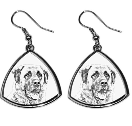 Anatolian Shepherd Silver Plated Earrings