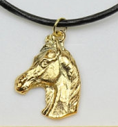 Arabian Horse Hard Gold Plated Pendant