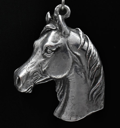 Arabian Horse Silver Plated Key Chain