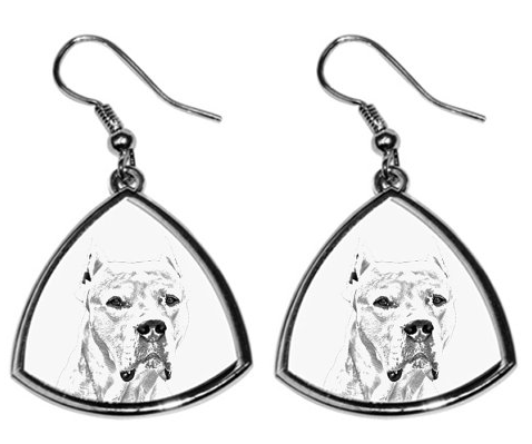 Argentine Dogo Silver Plated Earrings