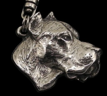 Argentine Dogo Silver Plated Pendant