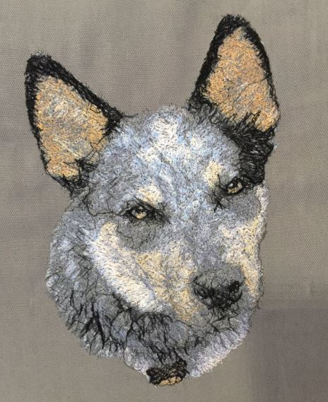 Australian Cattle Dog Embroidered Cushion Cover