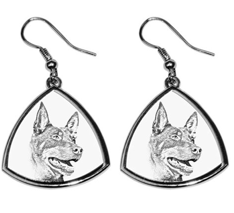 Australian Kelpie Silver Plated Earrings