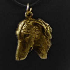 Azawakh Hard Gold Plated Pendant