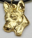 Basenji Hard Gold Plated Pendant