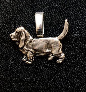 Basset Hound Full Body Mini Charm