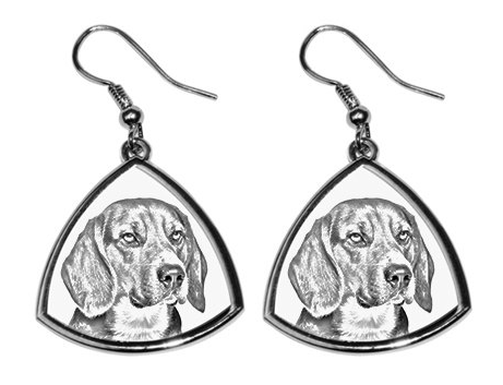 Beagle Silver Plated Earrings