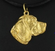 Beagle Hard Gold Plated Key Chain