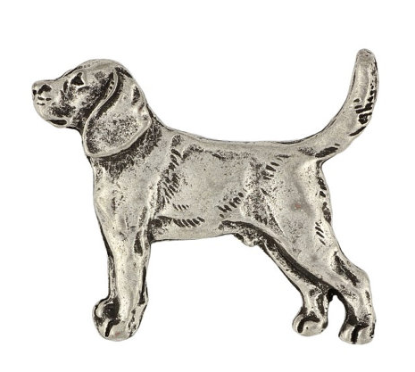 Beagle Silver Plated Lapel Pin