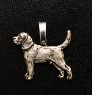 Beagle Silver Plated Mini Charm