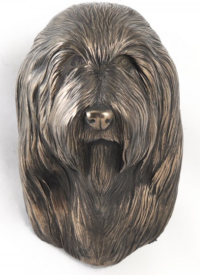 Bearded Collie Wall Hung Statue