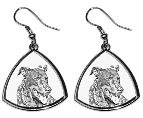 Beauceron Silver Plated Earrings