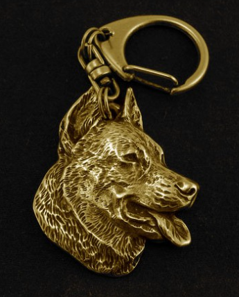Beauceron Hard Gold Plated Key Chain