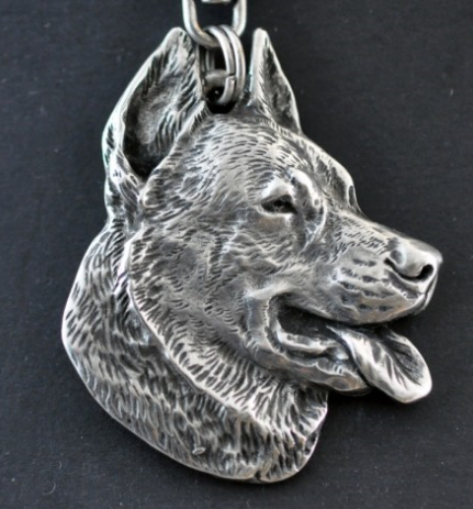 Beauceron Silver Plated Key Chain