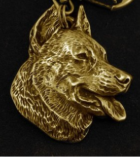 Beauceron Hard Gold Plated Pendant