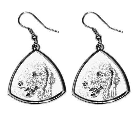 Bedlington Terrier Silver Plated Earrings