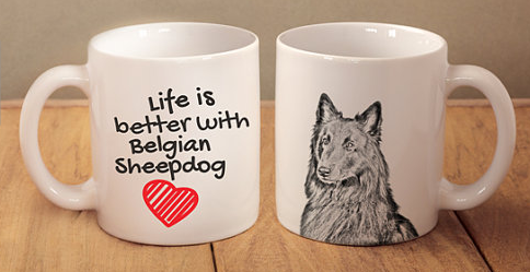 Belgian Shepherd White Coffee Mug