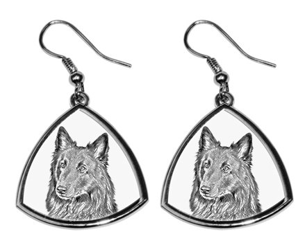 Belgian Shepherd Silver Plated Earrings