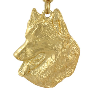 Belgian Shepherd Hard Gold Plated Key Chain