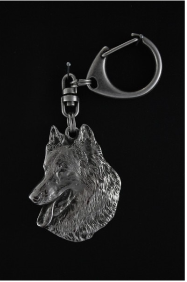 Belgian Shepherd Silver Plated Key Chain