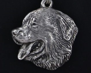 Bernese Mountaion Dog Silver Plated Pendant