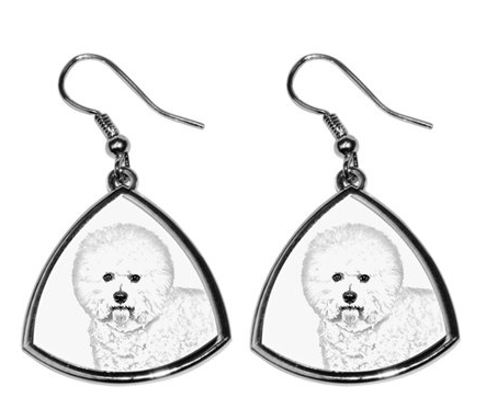 Bichon Silver Plated Earrings